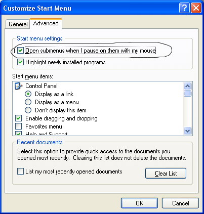 customize start menu