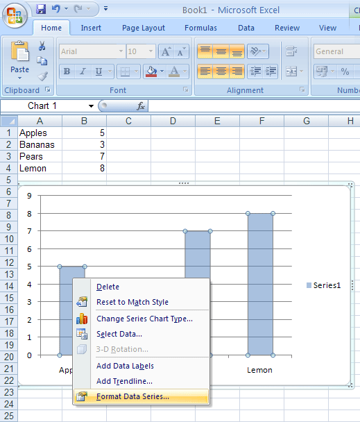 Creating transparent bars in excel 2003 and excel 2007 charts
