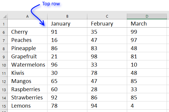 how to make excel row stay while scrolling