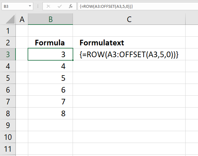 OFFSET function create cell ref to cell range