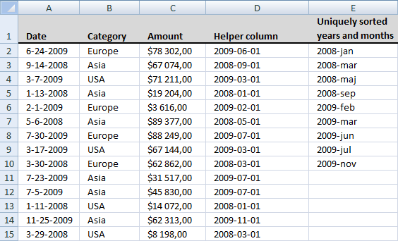 extract-dates-using-a-drop-down-list-in-excel1