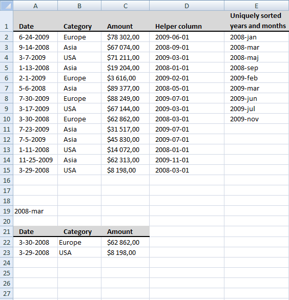 extract-dates-using-a-drop-down-list-in-excel2