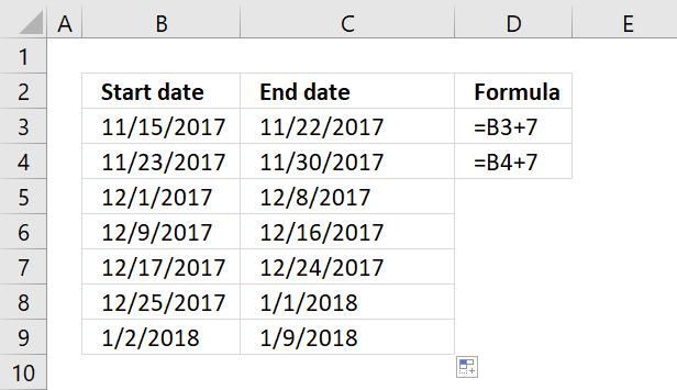 Create a date range [Formula]