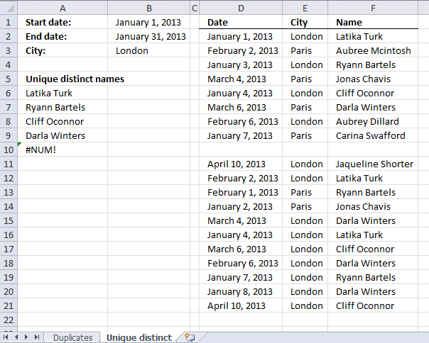 Extract a list of duplicates from a column