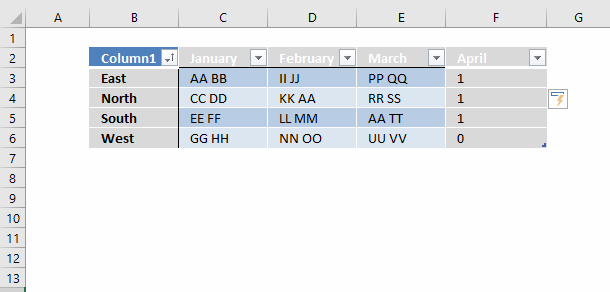 Search for a text string in a data set and return multiple
