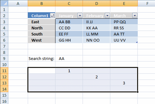 how to get a substring in excel