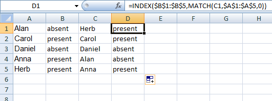 Match a value and return adjacent value