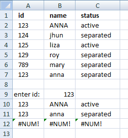 Picture of how to extract multiple records based on a condition using an array formula