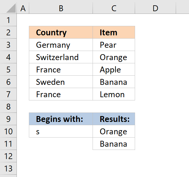 vlookup return multiple values begins with