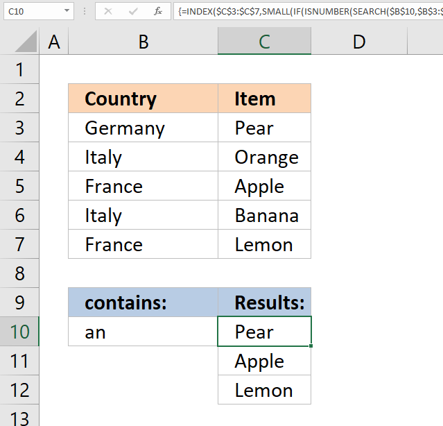 vlookup return multiple values contains