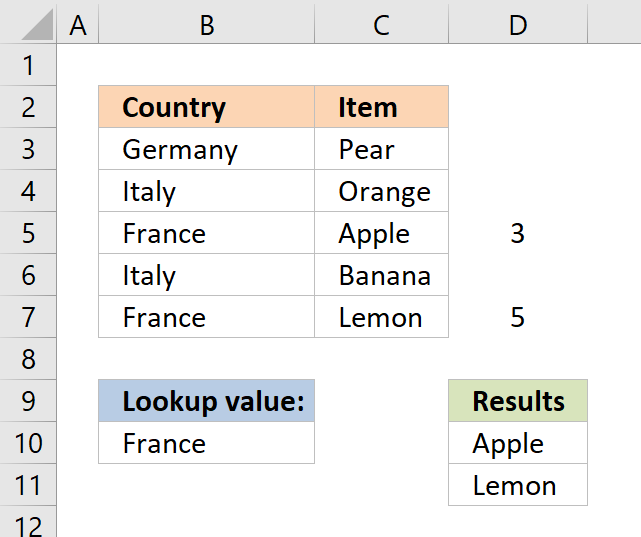 vlookup return multiple values explain step 3