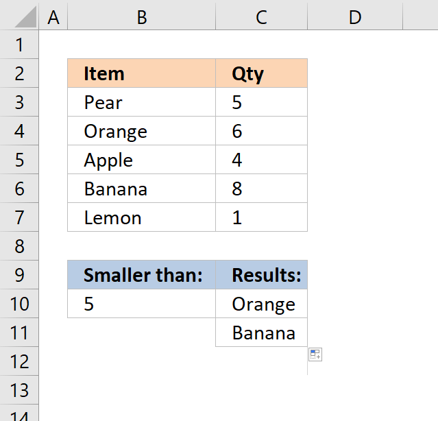 vlookup return multiple values larger than