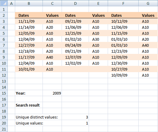 how to find adjacent numbers using excel