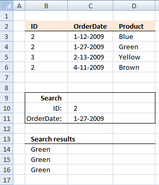 Lookup two index columns