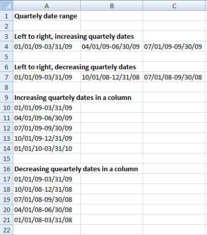 quartely date range