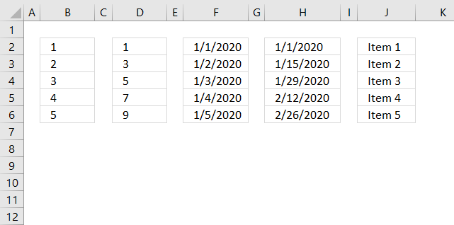 create number sequences using autofill