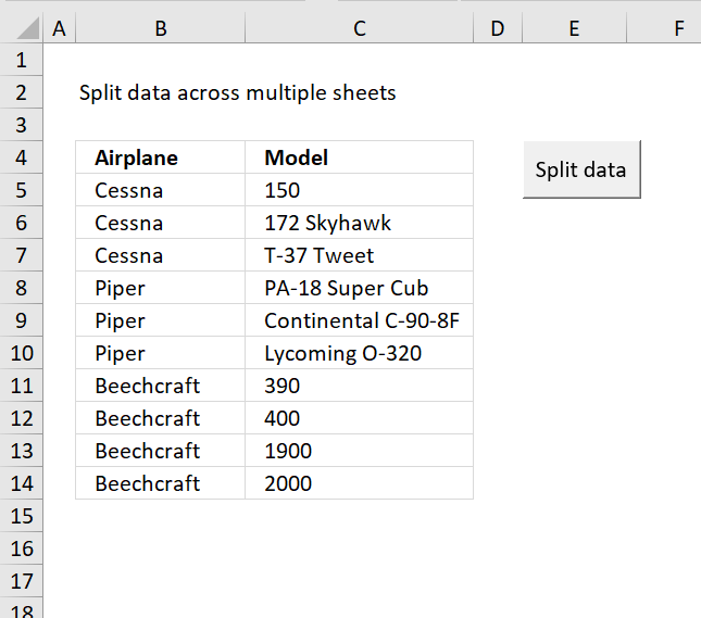 Split data across multiple sheets vba ibookread ePUb