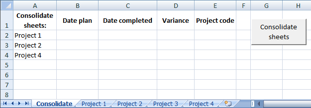 Consolidate Sheets Vba