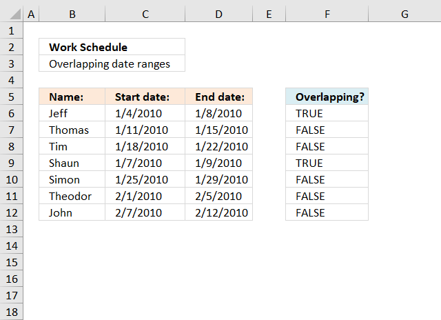 Formula for matching a date within a date range