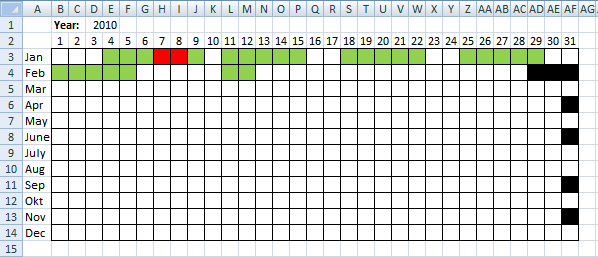 calendar template excel 2007