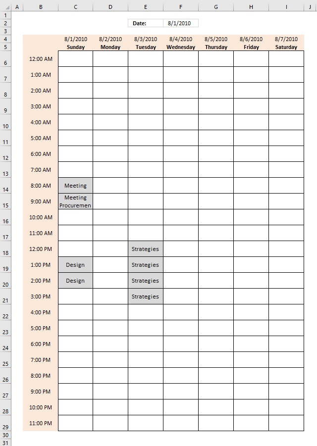 Weekly Schedule Excel Template from www.get-digital-help.com