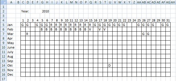 block schedule template