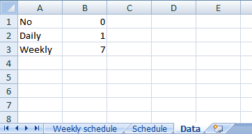 create weekly schedule