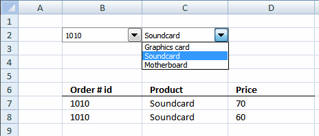 Value access box vba combo column