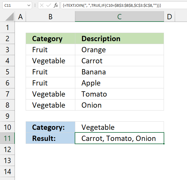 Lookup and return multiple values concatenated into one cell 1