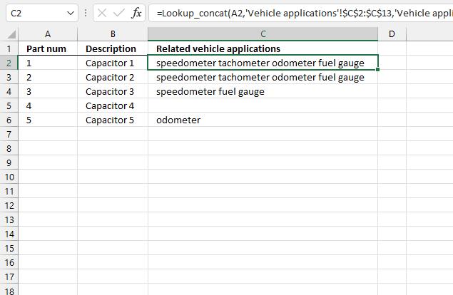 lookup and return multiple concatenated unique distinct values