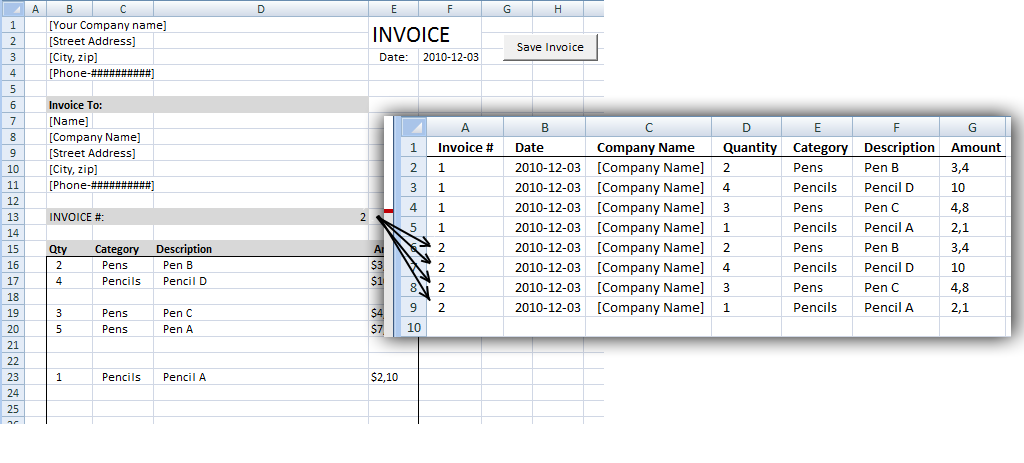 Edit Invoice Data Vba. If Invoice Number Already Exists A Message Box Asks You Want To Overwrite Old Values With New. Worksheet. Application Worksheetfunction Counta At Mspartners.co