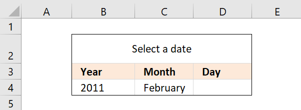 Create a drop down calendar