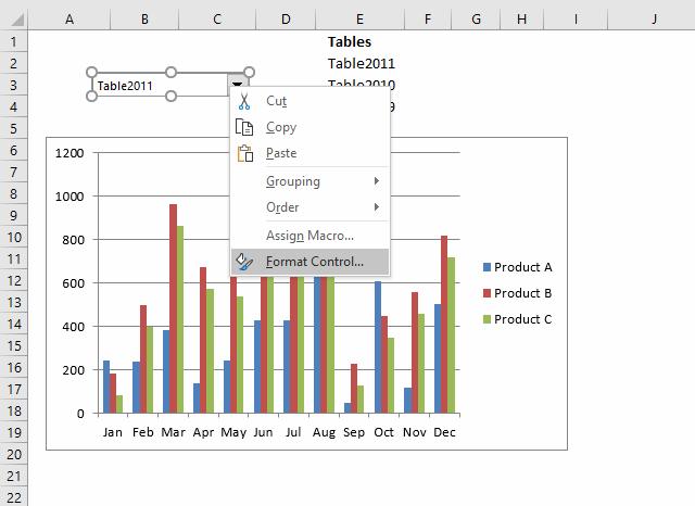 Change chart data range using a Drop Down List [VBA]