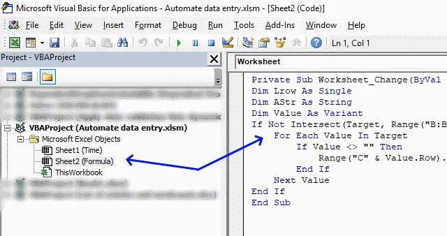 Automate data entry [VBA]