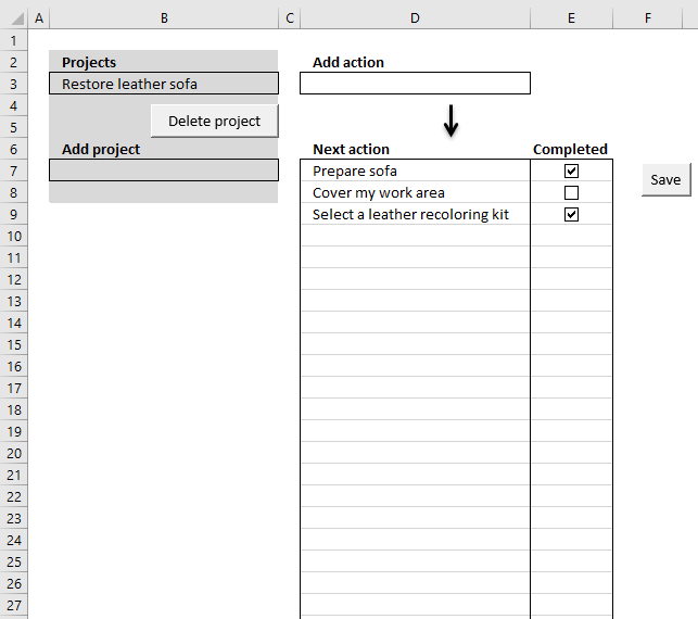 Excel Template Getting Things Done Vba
