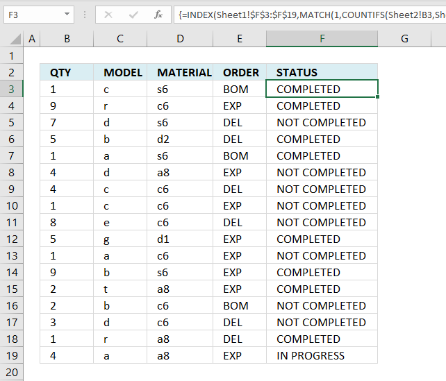Lookup multiple values across columns and return a single value