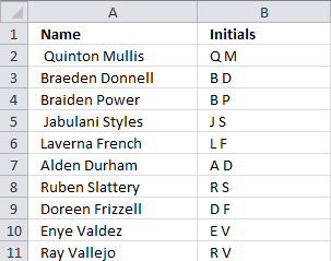 How to use the indirect function create name initials urtaz Choice Image
