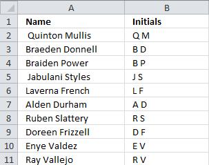 Create Name Initials