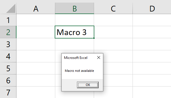 Run a macro from a drop down list drop down overwritten