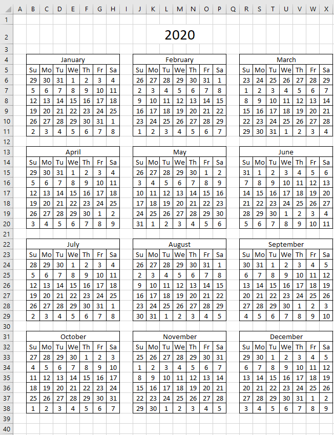 Highlight events in a yearly calendar hide dates