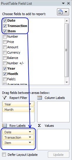 sum security trades - pivot table2