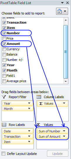 sum security trades - pivot table5