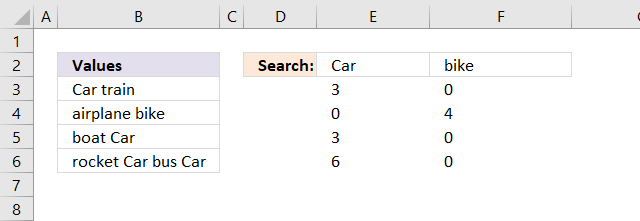 Count multiple text strings in a cell range array calculation3