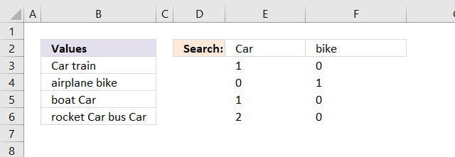 Count multiple text strings in a cell range array calculation4