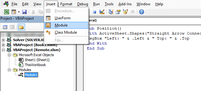 Move a shape using VBA identify left and top points vba 1