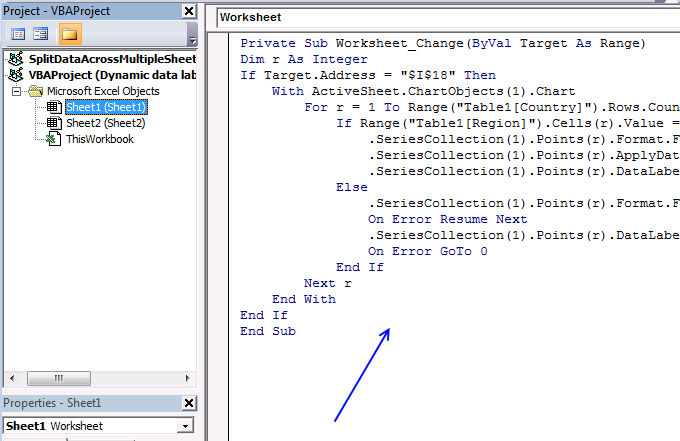 table - vb editor