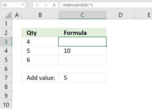 If function add value