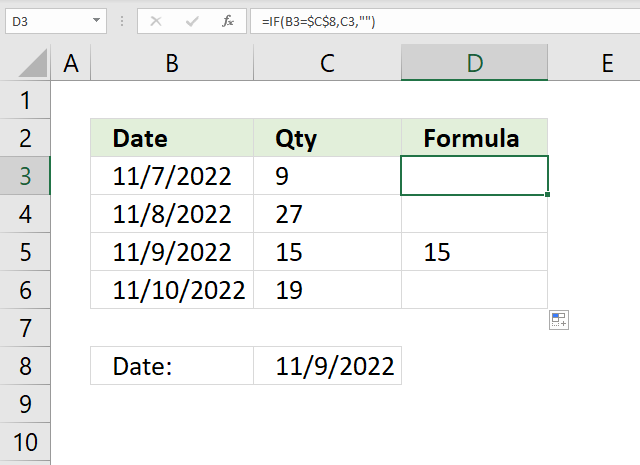 If function by date