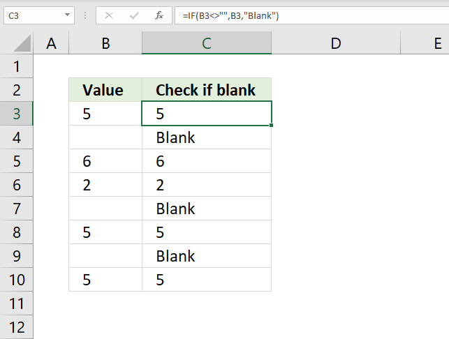 If function check if cell is blank