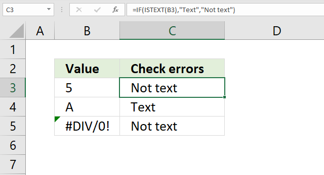 If function is text